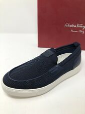 $495 New Salvatore Ferragamo Mens Blue Shoes Sneakers Size 7 US 6 UK 40 EU