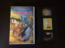 Das Dschungelbuch VHS Videokassette Walt Disney Film Zeichentrick Video Kinder