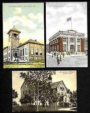 M58 Iowa (3) Pcs.Carroll Hospital, Cedar Falls Bank, Burlington Library