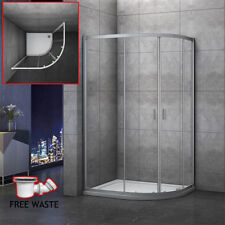 1000×900mm Quadrant Shower Enclosure and Stone Tray Corner Cubical Glass RIGHT