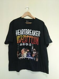 REO of The Rock T-Shirts Heartbreaker Led Zeppelin Black Graphic Cotton Size XL