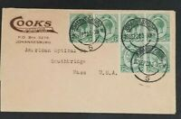 1922 Johannesburg South Africa Southridge Mass USA Optician Advertising Cover