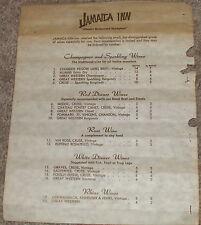 Vintage 1960's JAMAICA INN Wine List-MIAMI, FLORIDA-Chateau Pontet Cruse Canet 6