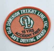 Old Dominion Freight Lines Inc driver patch 15 yrs accident free safe drvg #444