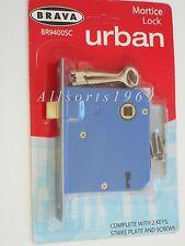 Brava Mortice Door Lock BR9400SC 60mm Backset * satin chrome plated * 2 keys *