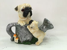 Gardenwize Pug Puppy Dog with Watering Can Solar Light Eye Garden Patio Ornament