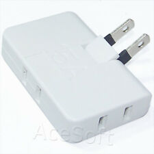 3in1 Outlet Power Converter Splitter Travel 2 Plug Rotate Charger Socket Adapter