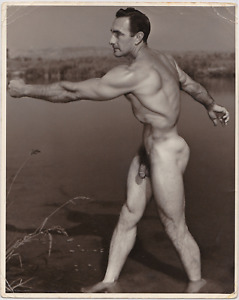 Western Photo Guild Muscular Male Nude Eddie Williams Vintage Physique 8x10 Gay