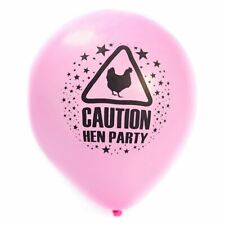 15 X Hen Party Caution Balloons Pink Girls Night Out Decorations Accessories