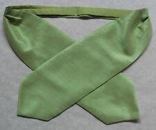 Uomo Cravatta Retro Mod Vintage Dandy formale ASCOT WEDDING Scintillante verde lunga