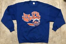 Rare Vtg 80s 1989 New York Mets Graphic Crewneck Pullover By Trench Size Xl