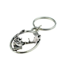 Pewter Key Ring : Fallow Deer head XTSBKKA63