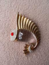 Sailfish - Brooch / Pin Vintage Crown Trifari Jelly Belly