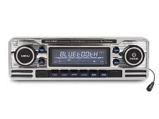 Caliber RCD120BT Retro Style Chrome Car CD Player Bluetooth FM USB SD Aux In