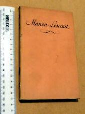 MANON LESCAUT ABBE PREVOST EDITIONS DE CLUNY PARIS IN FRENCH PAPERBACK W/ JACKET