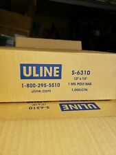 """Poly Bags 12""""x15"""" 1Mil Clear Open Top 1000 Count Uline"""
