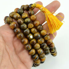 735.25 Carats Natural Golden TIGER'S EYE Round Shape Beads Necklace