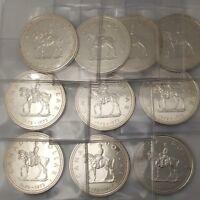Lot of 10 - 1973 RCMP Mountie Canada Silver Dollars UNCIRCULATED #coinsofcanada
