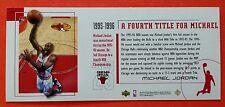 Michael Jordan 1999 Upper Deck Career Set Box Topper 95-96 4th Title for Michael