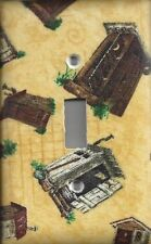 Yellow Primitive Prim Outhouse Bathroom Single Light Switch Plate Bedroom Cover