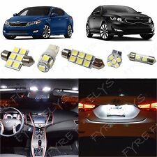 10x White LED lights interior package kit + Tool for 2011-2017 Kia Optima KO1W