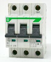 KLOCKNER MOELLER CIRCUIT BREAKER FAZ-3-C16 16 AMP A 16A 3 POLE 3P