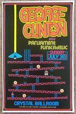 GEORGE CLINTON 2017 Gig POSTER Parliament Funkadelic Portland Oregon Concert