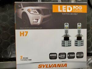 SYLVANIA - H7 ZEVO FOG LED Fog Lights Bright White LED Light Output, 2 Bulbs
