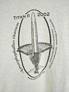 Amorphophallus titanum unisex t-shirt size Medium inflorescence flower Aroids