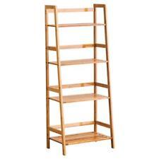 High Quality Bookcase Storage Shelves Bamboo Bookshelf Furniture Log Color US