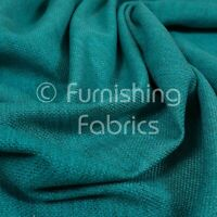 Modern Furnishing Textured Plain Teal Jacquard Basket Weave Upholstery Fabrics