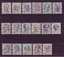 Briefmarken aus Berlin (1980-1990) mit Sonderstempel