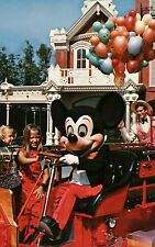 Walt Disney World, Orlando, Florida, Mickey Mouse on Fire Engine Truck, Postcard