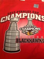 NWT 2013 Blackhawks Stanley Cup Champions Tee Shirt Size Large Red