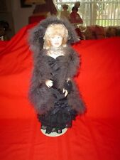 """Mae West 17in"""" Doll Effanbee 1982 Comes with boa and hat and stand in box."""