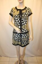 NEW BCBG MAX AZRIA DALY GOLDEN CANARY COMBO MINI JERSY IWC6I509 DRESS SIZE S