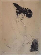 Paul César HELLEU (1859-1927) Héliogravure, Portrait de femme, signée P1658