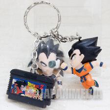 Dragon Ball Z Gokou & Raditz & Famicom Cassette Figure Keychain Banpresto JAPAN
