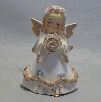 Lefton June Angel Girl Figurine 1987J As Is