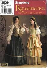 Simplicity Pattern 3809 Renaissance Costume Gown Dress Misses Szs 10 12 14 Uncut