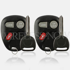 2 Car Fob Keyless Entry Remote For 2001 2002 2003 2004 GMC Sonoma + Key