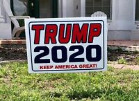 Trump 2020...Keep America Great ! ...Campaign.. Yard Sign with Stake + 2 Decals