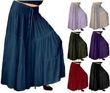 Peasant Gypsy Maxi Skirt - Ruffled LotusTraders Fashion - Rayon Crinkle G931