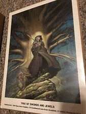 Michael Whelan Print Tree Of Swords And Jewels Vintage 11 X 15