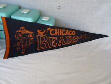 Vintage CHICAGO BEARS Felt Pennant - NFL  1940s - 1950s - Era