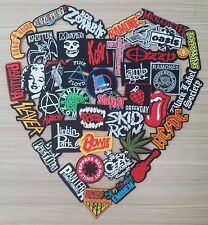 Lot of 40 New Wholesale Band Music Rock Metal Pop Punk Iron On Patch Embroidered
