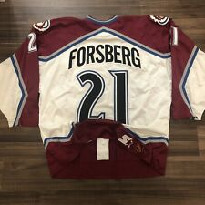 Starter Center Ice Authentic Colorado Avalanche Peter Forsberg NHL Jersey 56