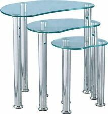 Unbranded Less than 60cm Metal Tables