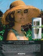 ▬► PUBLICITE ADVERTISING Crème solaire Visage SISLEY 1998