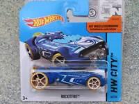 Hot Wheels 2015 #044/250 ROCKETFIRE bleu CHASSE AU TRÉSOR T-HUNT